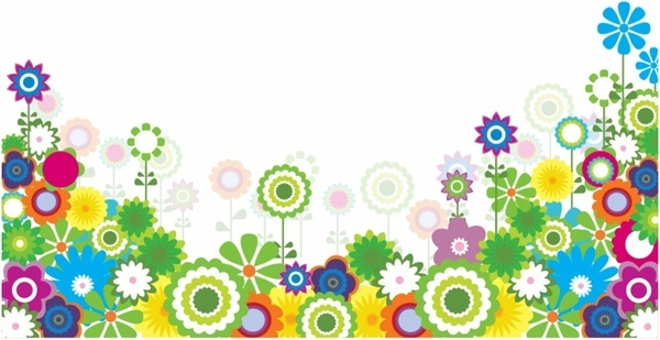 Spring flower corner border free vector download (15,734 Free.