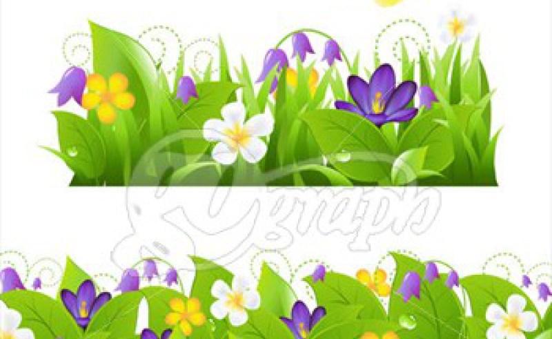 garden border design clipart #13