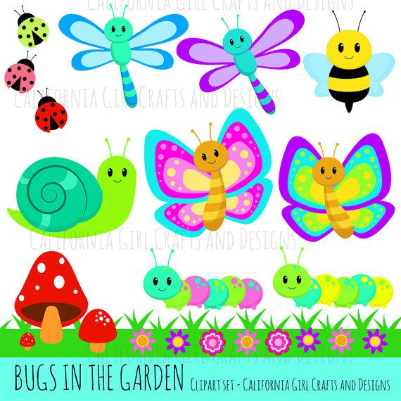 Bugs in the Garden Clipart Set.