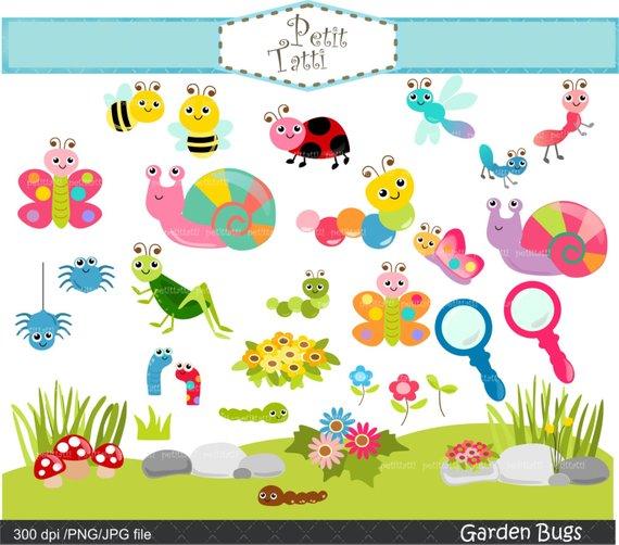 garden bugs clip art.