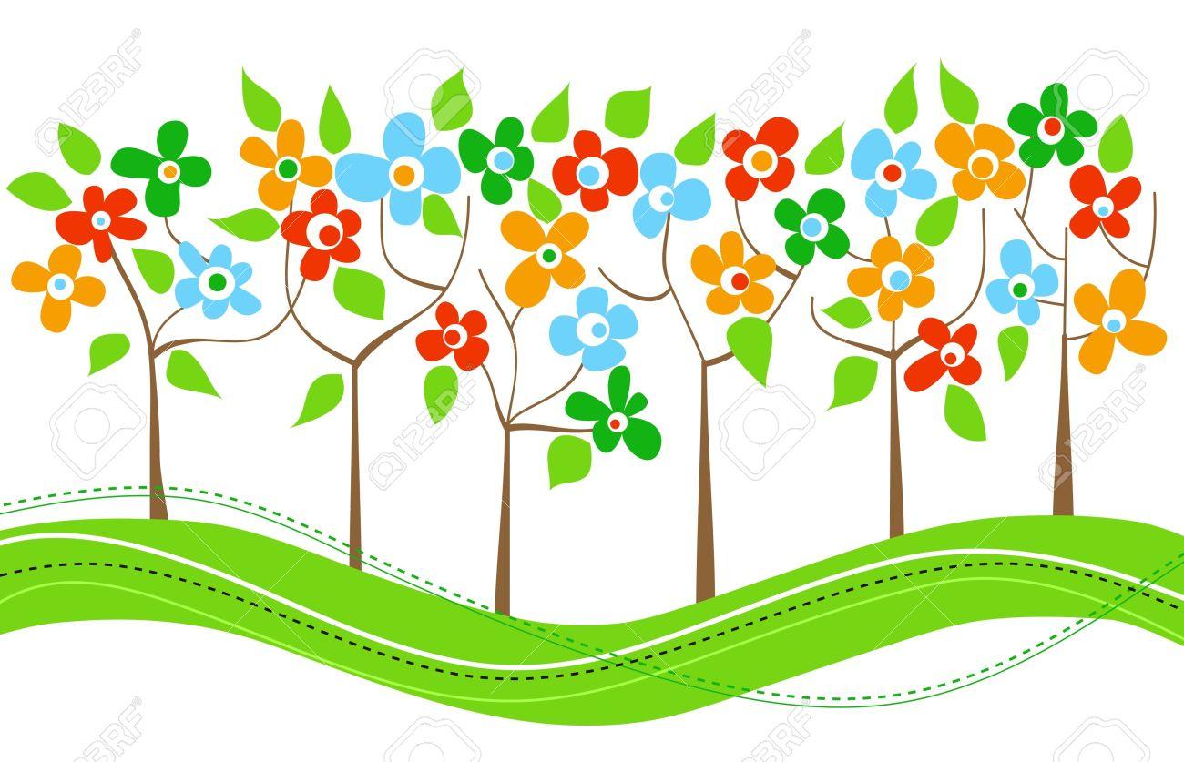 Spring garden clip art.