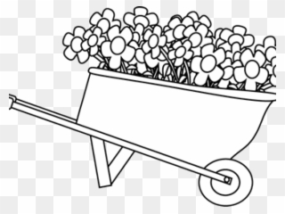 Free PNG Gardening Black And White Clip Art Download.