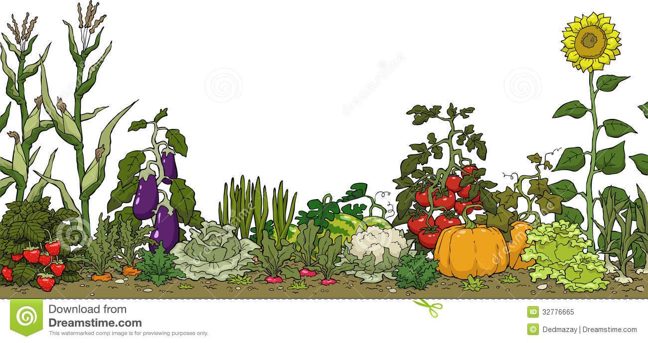 Vegetable Garden Border Clipart.
