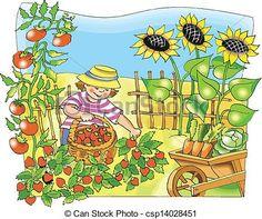 Garden Scenes Clip Art.