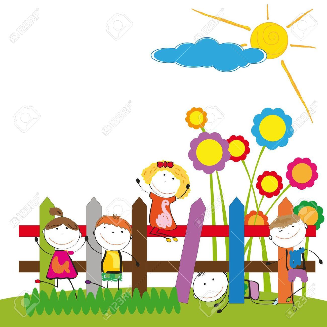 Kindergarten Clipart Garden ~ Frames Illustrations HD, Clip.