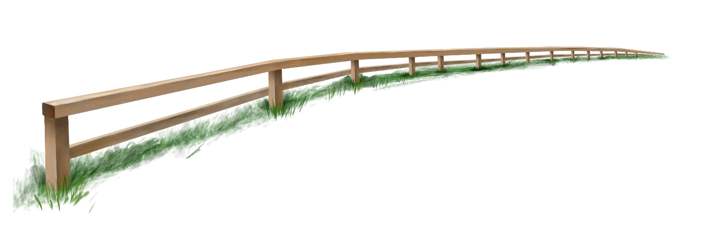 Garden Fence with Grass PNG Clipart.