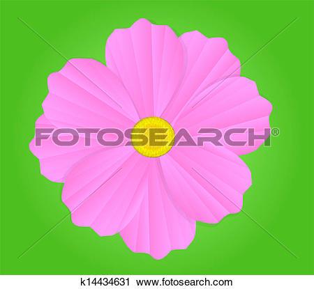 Clipart of Garden Cosmos Flower k14434631.