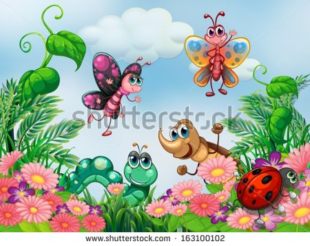 Cartoon Bugs Stock Images, Royalty.