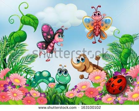 Cartoon Bugs Stock Images, Royalty.