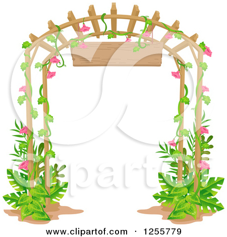 Free clipart flower garden gate.