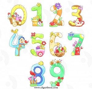 Garden decorative Numbers free vector clipart designs Archives.