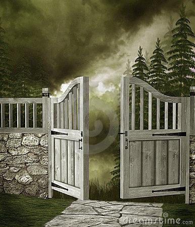 Fantasy Garden Gate Stock Photos, Images, & Pictures.