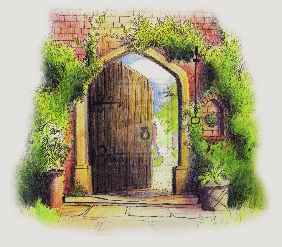 Enchanted garden clipart.