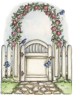 Clipart garden gate.