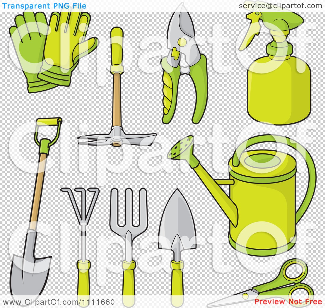 Gardening Tools And Equipment Clipart.