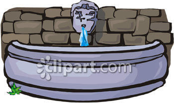 Royalty Free Clipart Image: Garden Water Feature.