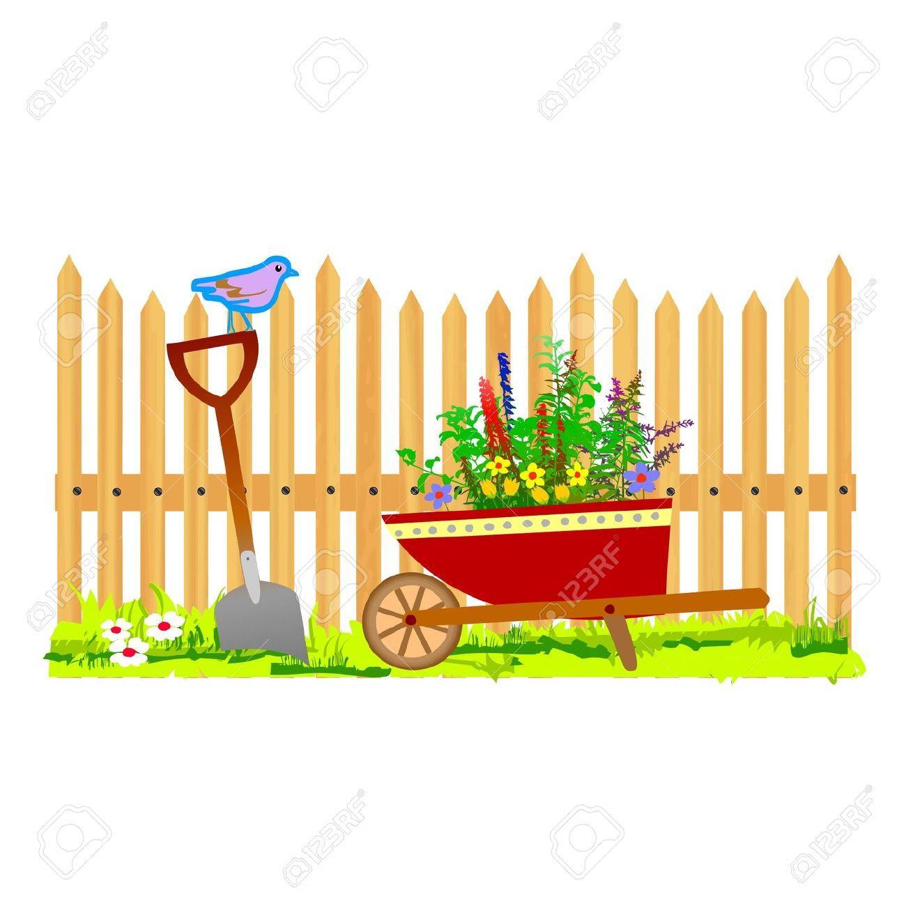Garden Fence Clipart Clipart.