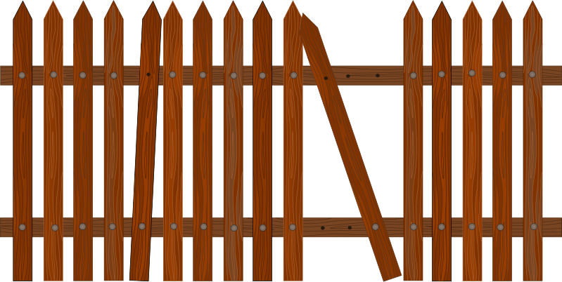 Free Garden Fence Clipart, 1 page of Public Domain Clip Art.