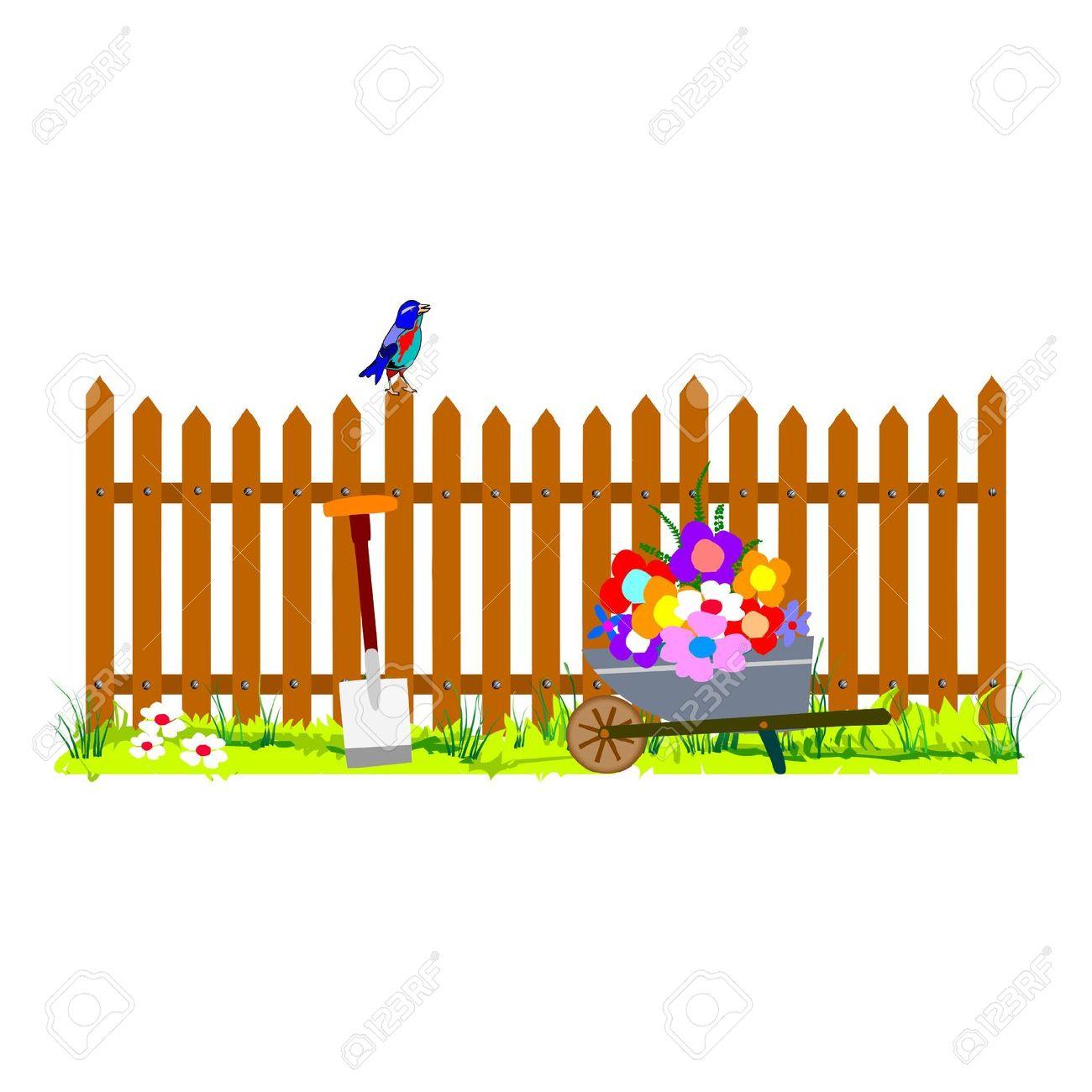 Garden fence clipart.