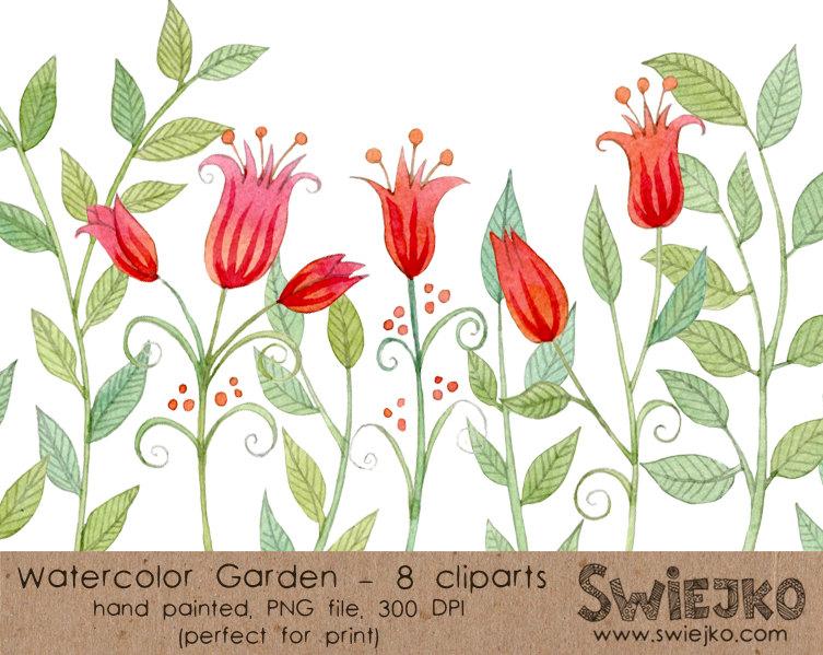 Garden Flower Bed Clipart.