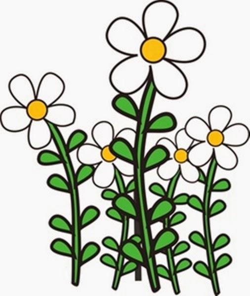 Garden flowers clip art many flowers.