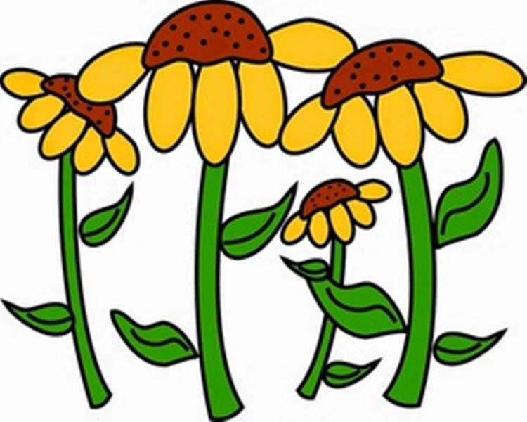 Garden Flowers Clip Art.