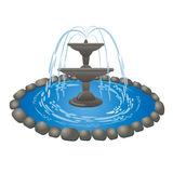 Garden Fountain Clipart.
