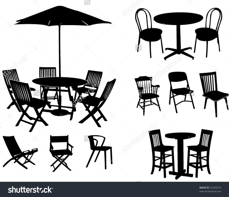 Garden Furniture Stock Vector 52344274.