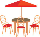 Patio furniture Clipart Royalty Free. 315 patio furniture clip art.