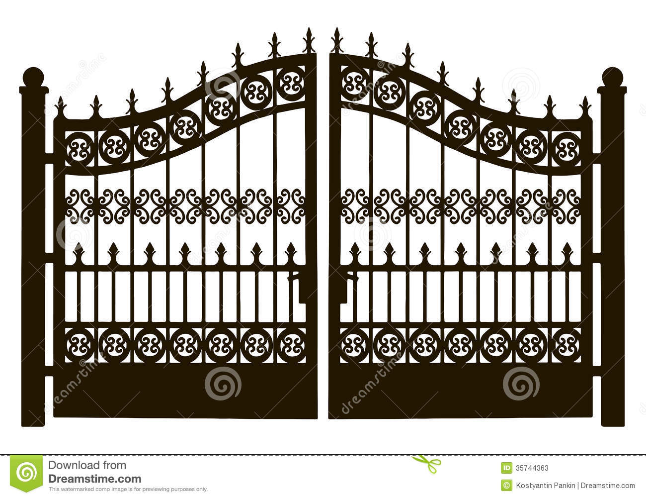 Metal Garden Gate Clipart.