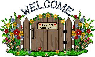 Free Clipart Flower Garden Gate.
