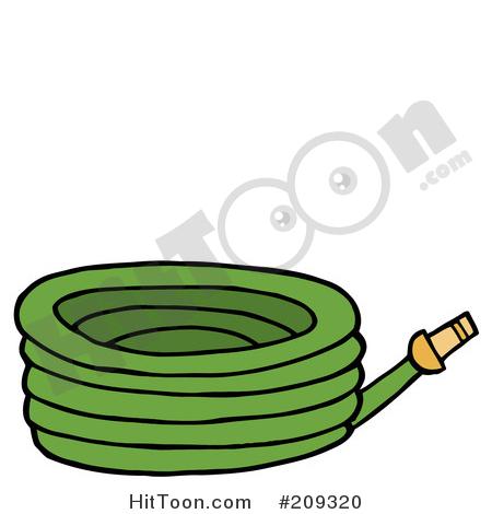 Garden Tool Clipart #209320: Green Garden Hose by Hit Toon.