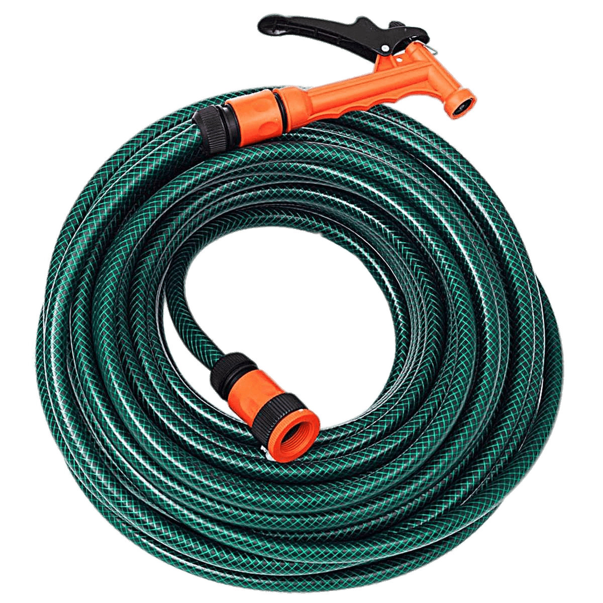 Garden Hose With Nozzle transparent PNG.