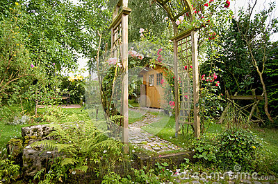 Garden Idyll Royalty Free Stock Images.