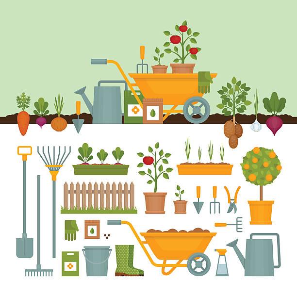 Best Gardening Illustrations, Royalty.