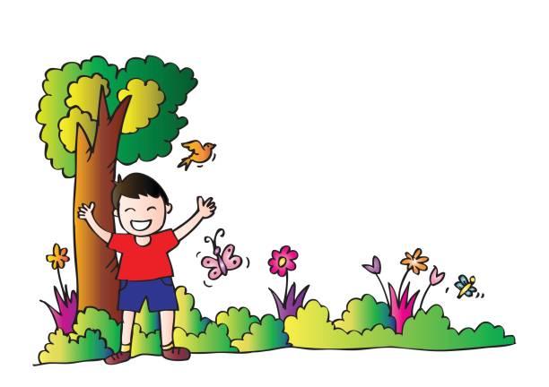 Kids Gardening Clipart.