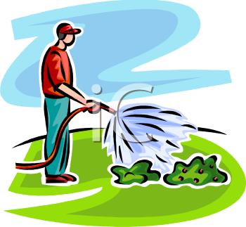 Garden irrigation clipart.