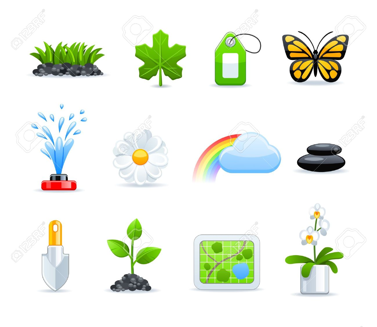 Gardening Icon Set Royalty Free Cliparts, Vectors, And Stock.