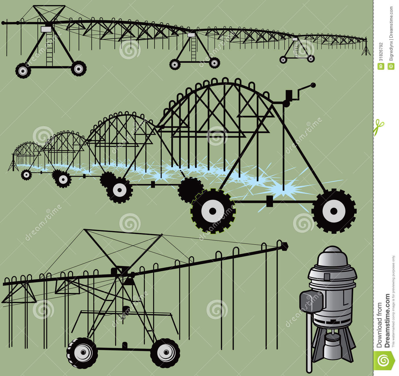 Irrigation Clip Art Stock Photography.