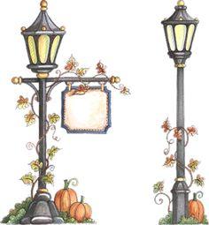 Garden lights clipart.