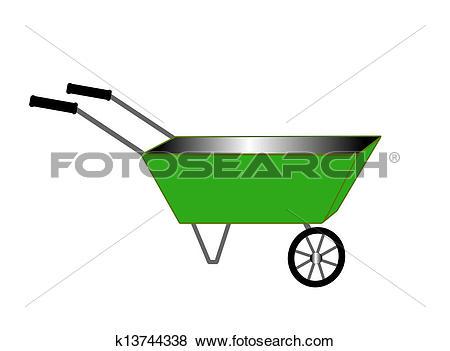 Stock Illustration of garden light cart k13744338.