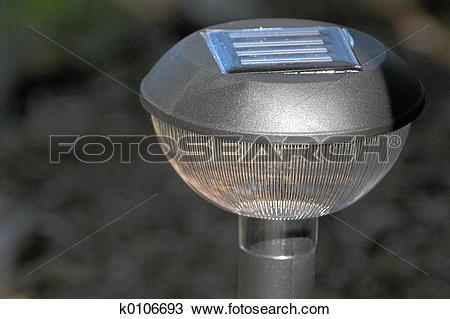Stock Photo of Solar Garden Light k0106693.