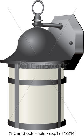 Vector Clip Art of Old Outdoor Light.