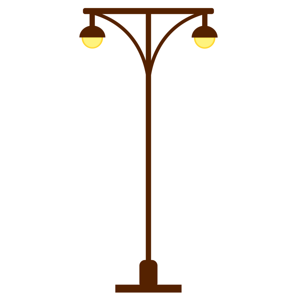 Outdoor Lighting Clipart Street Lamp Post Light Post Two Lights.