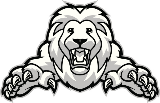 Attacking Lion Clipart.