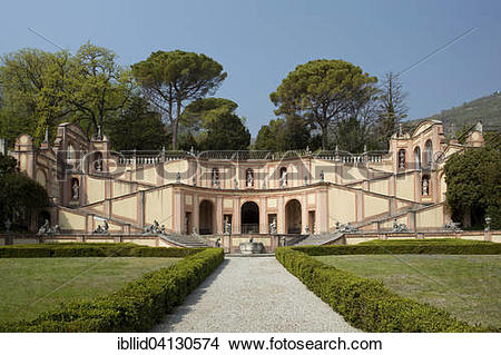 Stock Photo of Staircase in the garden of Palazzo Bettoni in.