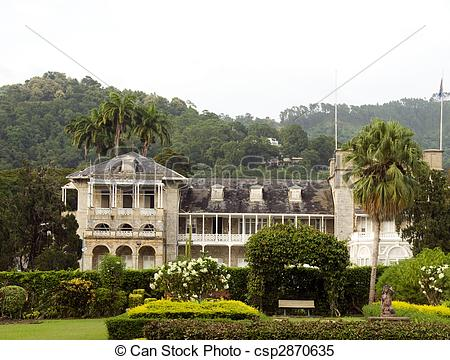 Stock Images of presidential palace port of spain trinidad and.