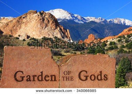 Garden of the gods clipart.