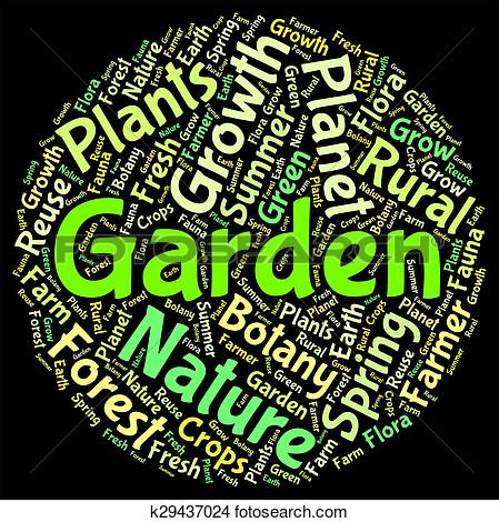 Garden of words clipart.