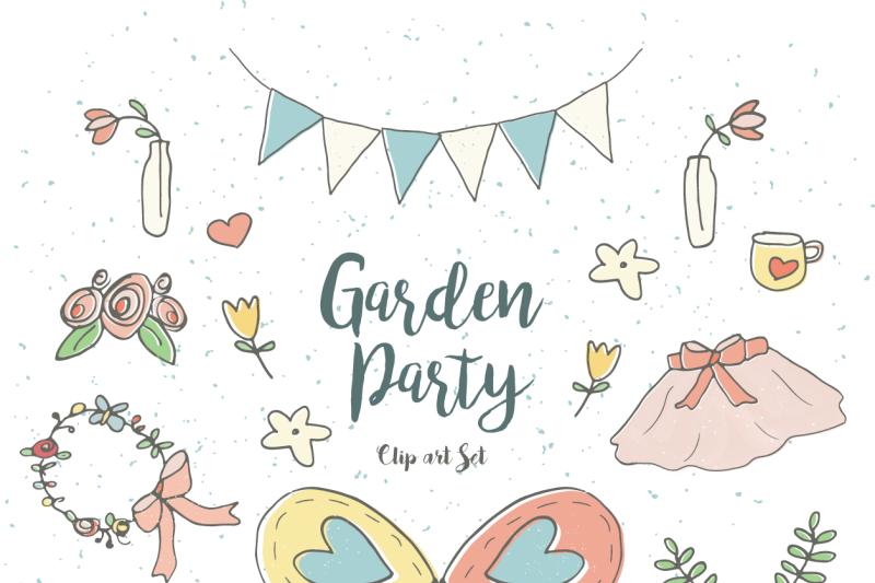 Garden Party Clip Art Set By Little Adventure Shop.
